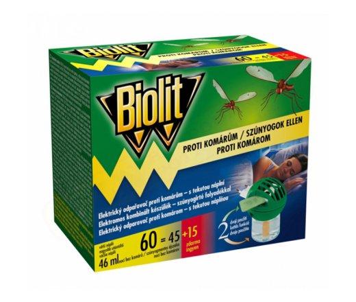 BIOLIT elektrický odpařovač s tekutou náplní proti komárům 60 nocí 46ml