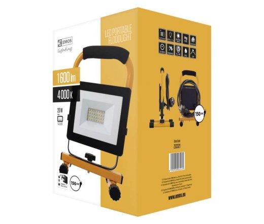 EMOS Reflektor LED přenosný 20W neutrální bílá ZS3321