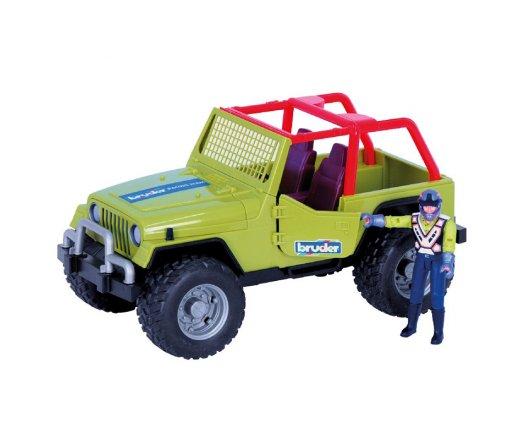 BRUDER 9037 Závodní Jeep zelený se závodníkem
