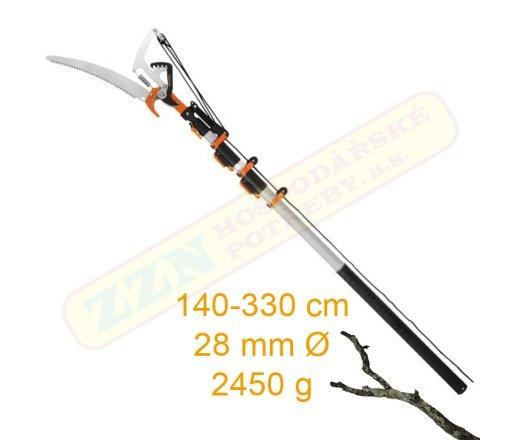 PROTECO 10.33-40-01 Nůžky na větve s pilkou, teleskopické 140-330cm