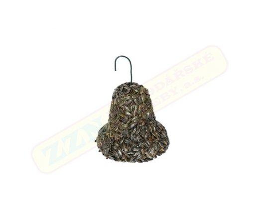 Slunečnicový zimní zvonek pro venkovní ptactvo
