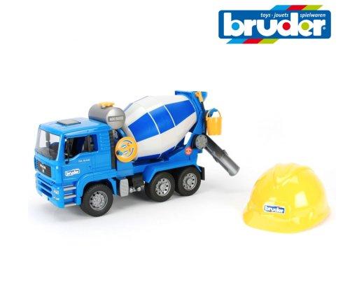 BRUDER 1638 MAN Autodomíchávač + helma Bruder