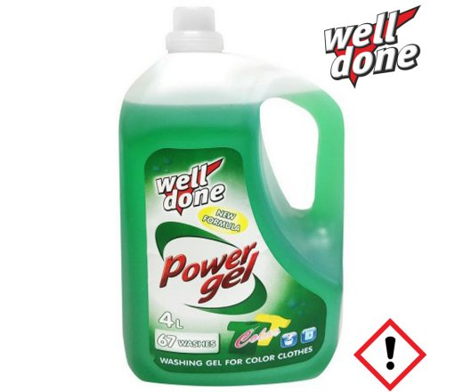 Well Done Power gel Color 4 l, 67 PD