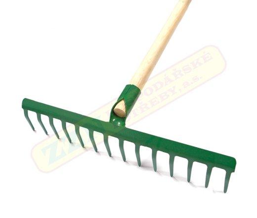 Hrábě železné s násadou PROFI, 14 zubů - 465613