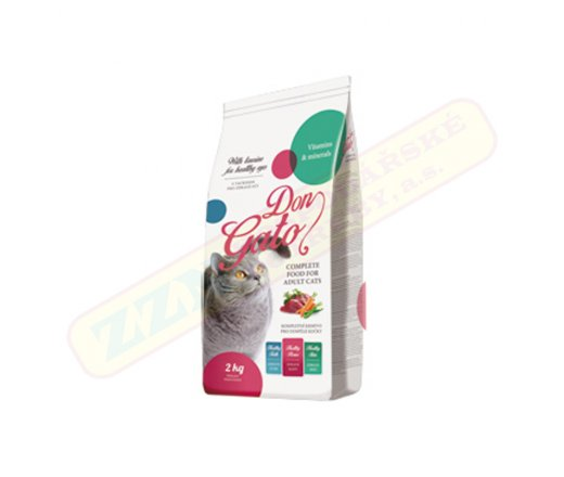 Granule pro kočky - 2kg s vitamíny