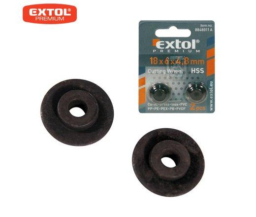 EXTOL Premium 8848011A Kolečko řezací 18x4x4,8mm, sada 2ks, pro řezač trubek 8848011