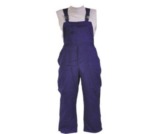 Kalhoty pracovní s laclem kepr modré