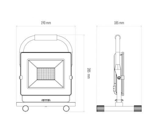 EMOS Reflektor LED přenosný 30W neutrální bílá ZS3331