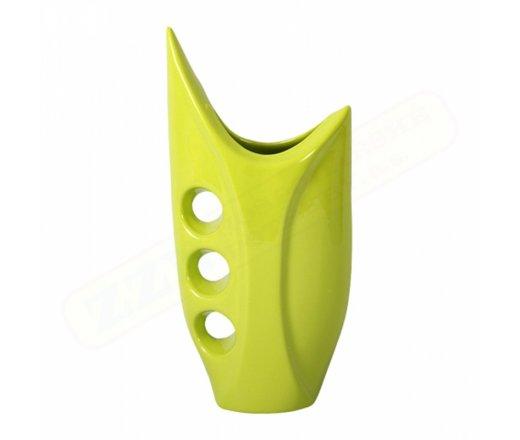 NG 076772ze Váza U AVANDGARD keramická zelená lesklá v30cm 90x140x290