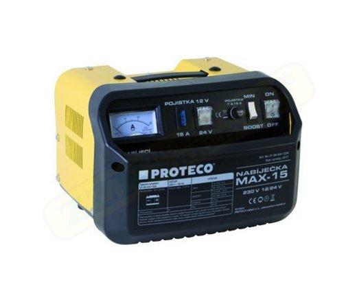 PROTECO MAX-15 nabíječka autobaterií, 230V 12/24V 51.08-AN-1224