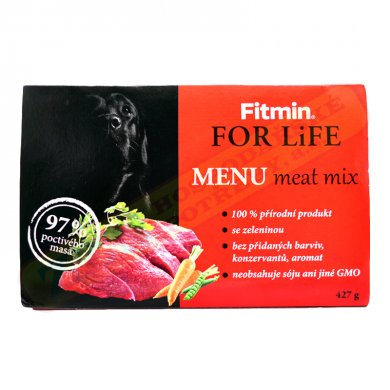Fitmin Dog for Life Dog Menu Meat Mix 427g, 97% MASA