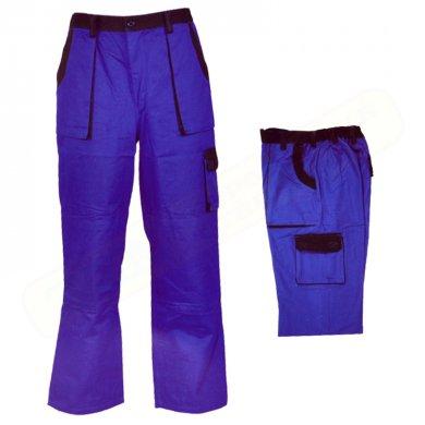 BAN CZ kalhoty pracovní do pasu LUXUS modro-černé