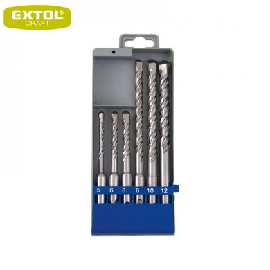 EXTOL Craft Vrtáky SDS+ příklepové do betonu, 5-12 mm, sada 6ks, 25048