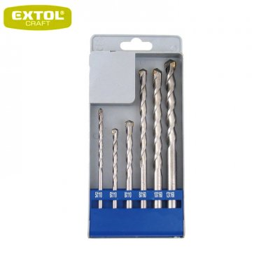 EXTOL Craft Vrtáky SDS+ příklepové do betonu, 5-12 mm, sada 6ks, 23901