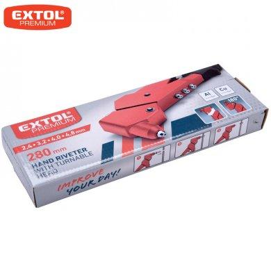 EXTOL Premium Kleště nýtovací s otočnou hlavou 280mm 8813731