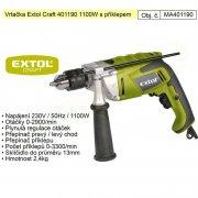 EXTOL Craft Vrtačka příklepová 1100W 401190